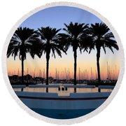 Six Palms Round Beach Towel
