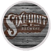 Sixpoint Brewery Round Beach Towel