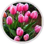 Skagit Valley Tulips 9 Round Beach Towel