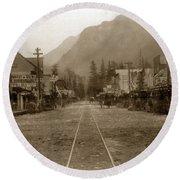 Skagway Alaska H. C. Bailey Photographer June 15 1898 Round Beach Towel