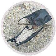 Skate Egg Cases On Sand Round Beach Towel