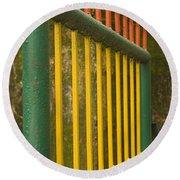Skc 3266 Colorful Gate Round Beach Towel