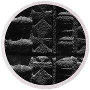 Skc 3300 Ancient Wall Art Round Beach Towel