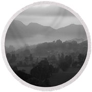 Skc 3953 Layered Landscape Round Beach Towel