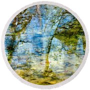 Skeletal Abstract Round Beach Towel