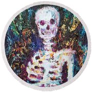 Skeleton With One Arm Round Beach Towel