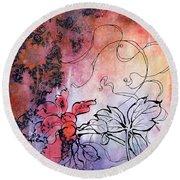 Sketchflowers - Calendula Round Beach Towel