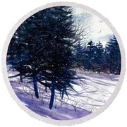 Ski Hill Round Beach Towel