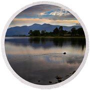 Skiddaw And Derwent Water At Dawn Round Beach Towel
