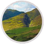 Skiddaw In The Lake District Round Beach Towel