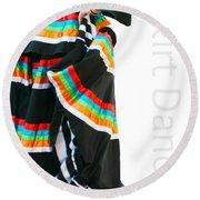 Skirt Dance Round Beach Towel