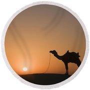Skn 0887 Sunrise At The Dunes Round Beach Towel