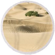 Skn 1408 The Smooth Dunes Round Beach Towel