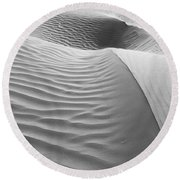 Skn 1415 The Flow Of Ripples Round Beach Towel