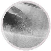Skn 1417 Leaf Pattern Round Beach Towel
