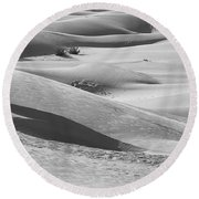 Skn 1432 Slopes And Curves Round Beach Towel