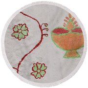 Skn 1658 Wall Drawing Round Beach Towel