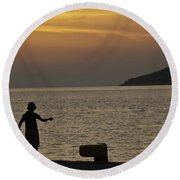 Skopelos Sunset - Fisher Boy - 1 Round Beach Towel