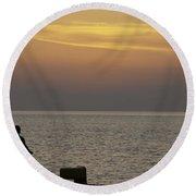 Skopelos Sunset - Fisher Boy - 2 Round Beach Towel