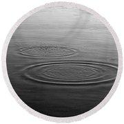 Skc 0211 Three Gradual Circles Round Beach Towel