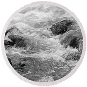 Skc 0212 Facing The Tide Round Beach Towel