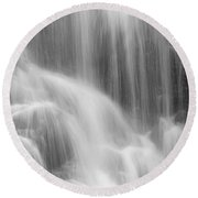 Skc 0218 Soothing Waterfall Round Beach Towel