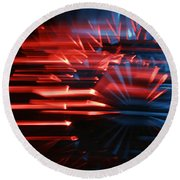 Skc 0272 Crystal Glass In Motion Round Beach Towel