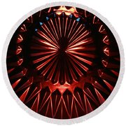 Skc 0285 Cut Glass Plate In Red And Blue Round Beach Towel