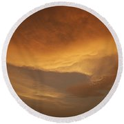 Skc 0324 Golden Glow Round Beach Towel