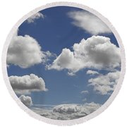 Skc 0328 The June Clouds Round Beach Towel