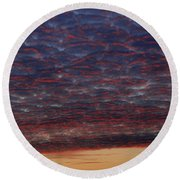 Skc 0338 Sky Desert Round Beach Towel
