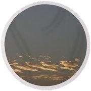 Skc 0352 Rythmic Clouds Round Beach Towel