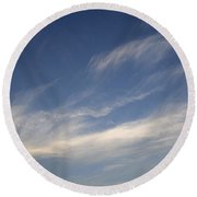 Skc 0356 Sky Sketching Round Beach Towel