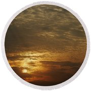 Skc 0361 Nature's Painting Round Beach Towel