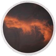 Skc 0371 Sunset Cloud Color Round Beach Towel