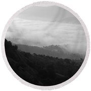 Skc 0755 Valley Of Clouds Round Beach Towel