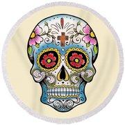 Skull 10 Round Beach Towel