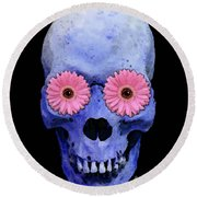 Skull Art - Day Of The Dead 1 Round Beach Towel