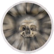 Skull - Fear And Trembling  Round Beach Towel