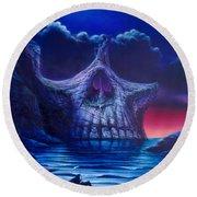 Skull Point Round Beach Towel