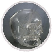 Skull Rock Crystal Round Beach Towel