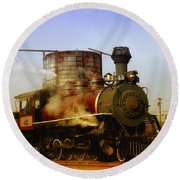 Skunk Train Round Beach Towel