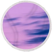 Sky 005 Round Beach Towel