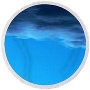 Sky 007 Round Beach Towel