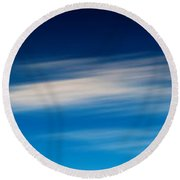 Sky 008 Round Beach Towel
