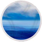 Sky 010 Round Beach Towel