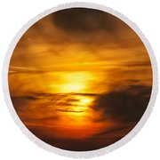 Sky Abstract Round Beach Towel