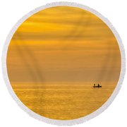 Sky And Water Round Beach Towel