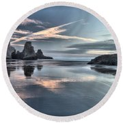 Sky Crosses Round Beach Towel