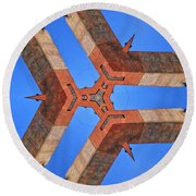 Sky Fortress Progression 8 Round Beach Towel